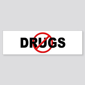 Anti / No Drugs Sticker (Bumper)